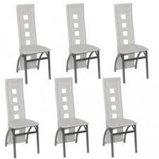 chaises de salle à manger design lot de 6 chaises de salle a manger design quatro achat vente