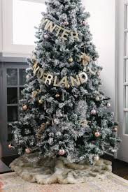 Flocked Real Christmas Trees by 214 Best Christmas Tree Decorating Ideas Images On Pinterest