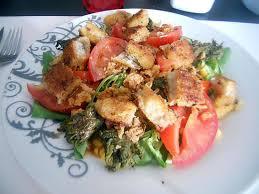recette de cuisine avec du poisson recette de salade au poissons panés