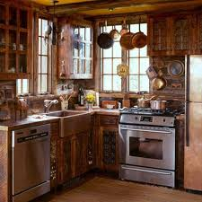Rustic Log Cabin Kitchen Ideas by Best 25 Small Cabin Interiors Ideas On Pinterest Small Cabins