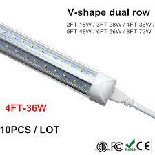 v shape led t8 4 foot 4ft integrated led light