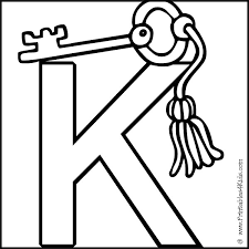Alphabet Coloring Page Letter K Key Printables For Kids Free Word Search Puzzles Pages And Other Activities