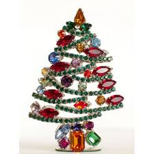 Swarovski Crystals Standing Abstract Christmas Tree