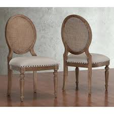 Dining Room Chairs Set Of 2 Elements Weathered Oak Cane Back Shopping