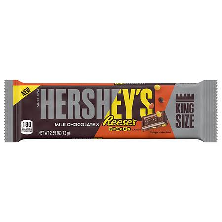 Hersheys Milk Chocolate, Reese's Pieces Candy, King Size - 2.55 oz
