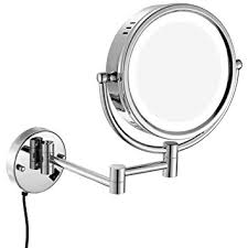 gurun 8 5 inch led lighted wall mount makeup mirrors