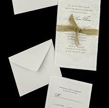 Burlap Ribbon Lace Vellum Wedding Invitations
