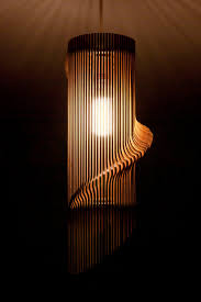 Laser Cut Lamp Plans by Twisted Lasercut Wooden Lampshade No 1