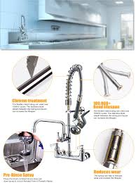 Commercial Pre Rinse Faucet Spray by Jzbrain Double Handle Commercial Kitchen Faucet 25