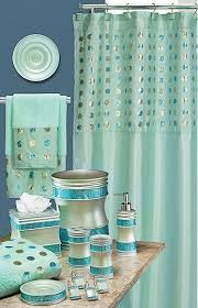 Brylane Home Bathroom Curtains by Sequins Aqua Bath Collection Contemporary Designs Shop By
