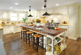 Kitchen Island With Bucther Block Countertop Used Like Table
