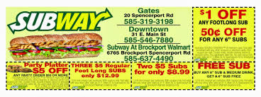 Online Subway Coupons Printable Ebay Subway Singapore Guest Appreciation Day Buy 1 Get Free Promotion 2 Coupon Print Whosale Coupons Metro Sushi Deals San Diego Coupons On Phone Online Sale Dominos 1for1 Pizza And Other Promotions Aug 2019 Subway Usa Banners May 25 Off Quip Coupon Codes Top August Deals Redskins Joann Fabrics Text Canada December 2018 Michaels Naimo Deal Hungry Jacks Vouchers Valid Until Frugal Feeds Free 6 Sub With 30oz Drink Purchase Sign Up For