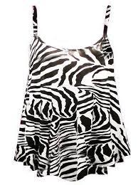 womens ladies plus size printed swing vest strappy sleeveless