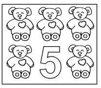 Number 5 Coloring Page January Toddler Curriculum Hibernation Week Theme