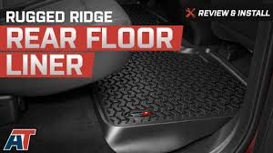 Rugged Ridge Floor Liners by 2015 2016 F150 Rugged Ridge Rear Floor Liner Review U0026 Install