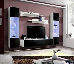 bmf fliegen moderner hochglanz wohnzimmer schlafzimmer flach studio set led tv wohnwand mit ständer schränke wandbord nur bmf