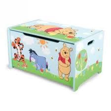disney winnie l ourson coffre à jouets en bois achat prix fnac