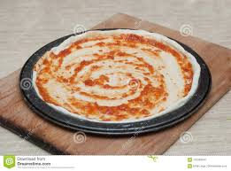 Download Homemade Pizza Cooking Process On Wooden Board Step By Dough