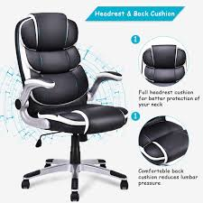 US $109.99 |Giantex PU Leather High Back Executive Office Chair Modern  Swivel Desk Task Computer Gaming Chairs Ergonomic Furniture HW56602 On ... Leather Tufted Office Chair Home Design Ideas Mcs 444 Executive Office Chair Specification Amazonbasics Highback Brown New Big Commander Professional Worksmart Bonded Black Deco Meeting Libra Mobili Fnitureexecutive Dimitri Hot Item Metal For Fniture