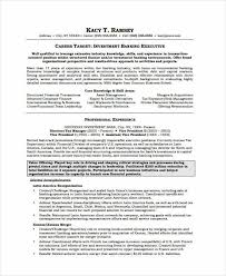 Banking Resume Samples 45 Free Word Pdf Documents Download Rh Template Net Format In Best