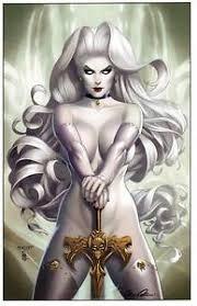 Image Is Loading LADY DEATH SWORD PLAY IVORY ART PRINT MATT