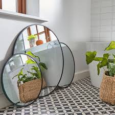 spiegel rund schwarz 60 cm bad wandspiegel wohnzimmer