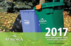 Waste Management Christmas Tree Pickup Schedule by 2017 Waste Management Guide And Recycling Calendar By Town Of