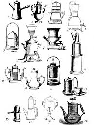 EARLY FOREIGN AND AMERICAN COFFEE MAKING DEVICES