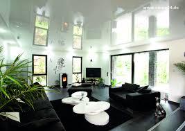 spanndecke wohnzimmer weiß glänzend ciling spanndecken