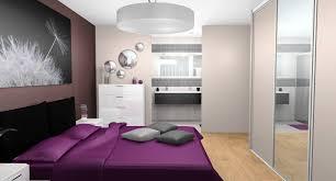 chambre parentale grise chambre taupe et prune
