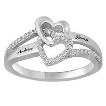 1 6 Ct Tw Diamond Heart Ring