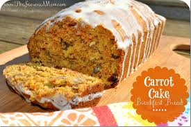 Carrot Cake Breakfast Bread with Cream Cheese Glaze