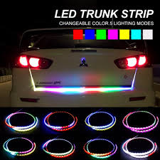 RGB Car Styling Turn Signal Strip Led Trunk Tail Light Colorful ... Tsv 7 Color Led Strip Under Car Tube Underglow Interior Lights Truck Bed With Strips Diy Howto Youtube Gtr Lighting Long Lightningseries Light Multicolor Whewell 4fxible Underbody Blue Rclighthouse Purple Neon Glow Kit Fxible 12v Led For Trucks Decor Auto Decoration Dashboard Floor Lamp 2018 Rgb Flowing Tail Trunk Dynamic Streamer 4piece Vehicle 30cm Waterproof 15 Motor Grill Color Chaing Light Strips With Remote For Sale In Barnet