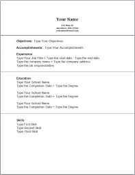 Resume Templates No Job Experience Collection Of Solutions