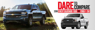 Comparing The 2018 Chevrolet Silverado 1500 Vs 2018 Ford F-150 ...