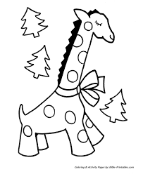 Easy Pre K Christmas Coloring Pages 2