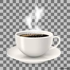 Cup On Saucer Hot Coffee With Steam Object The Transparent Background Americano