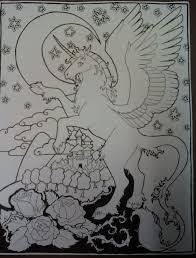 Unicorn Pegasus Coloring Page By Rshl