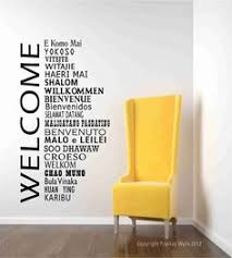 Welcome Wall Decal Words In International Languages Home Office And School Decor World Global Greetings On Etsy Near The Front Door