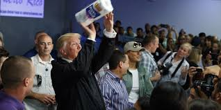 Reico Cabinets Falls Church by Trump Tosses Rolls Of Paper Towels To Crowd In Puerto Rico