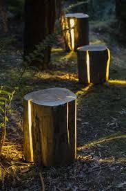 deco tronc d arbre la déco jardin récup bohème et écolo zapping web
