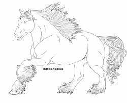 Coloring Download Clydesdale Pages Horse To Print Free Printable Realistic Sheets