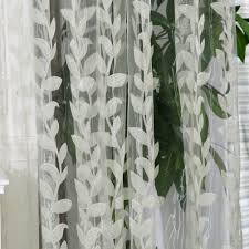 White Sheer Voile Curtains by Amazon Com Norbi Willow Voile Tulle Room Window Curtain Sheer