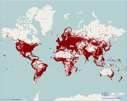 Red Dot A City With At Least 1000 People This One Is Condensed Due To Map Scale