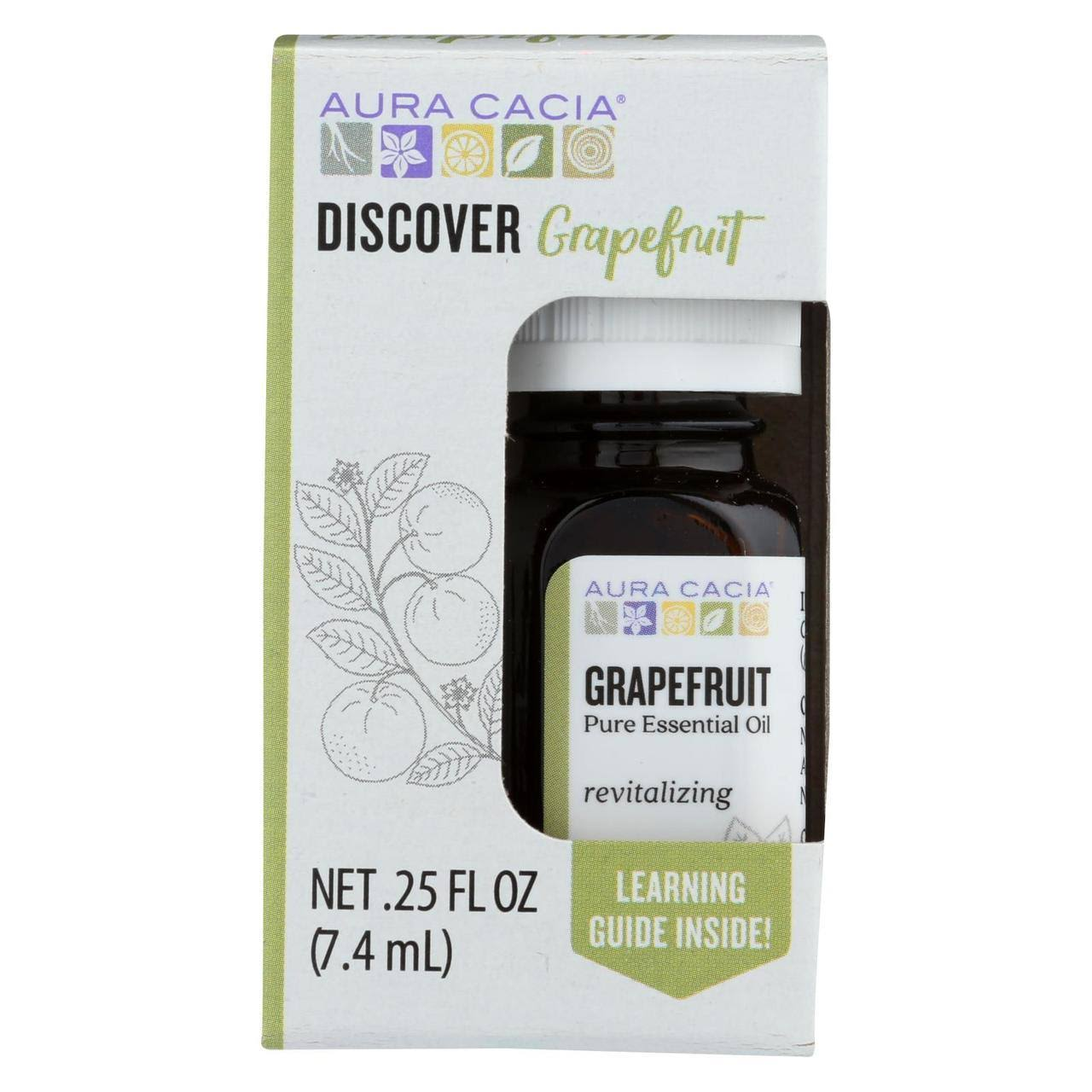 Aura Cacia Discover Grapefruit Pure Essential Oil - 0.25oz