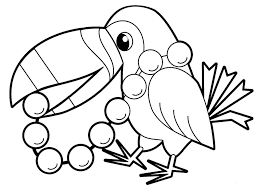 Parrot Bird Animals Coloring Pages For Babies