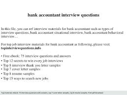 Bank Accountant Cover Letter Interview Questions In This File You Can Ref Materials For Resume Samples Free