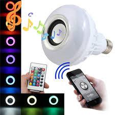 e27 led rgb bluetooth speaker bulb wireless 12w power