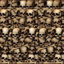 Scene Setters Halloween by 30ft Catacombs Mural Dungeon Skulls Bones Halloween Scene Setter