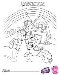 Coloring Book My Little Pony Applejack And Applebloom